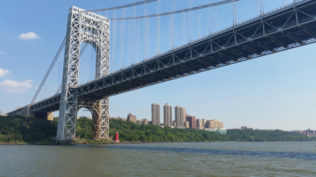 The George Washington Bridge. Photo via findingnyc.com.