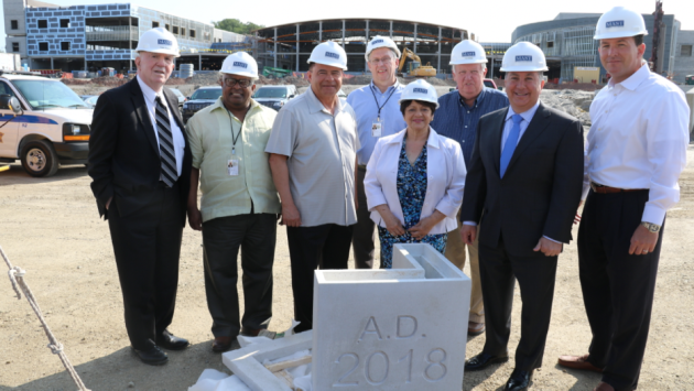 The Hudson County Board of Freeholders participated in a walkthrough of the new High Tech High School in Secaucus last week. Photo courtesy of Vision Media Marketing.