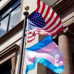 After Trump bans transgenders troops, Hoboken hangs flag in support