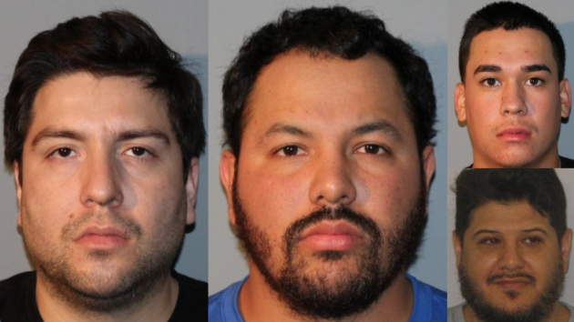 Four drug traffickers from as far away as Mexico and Arizona were arrested in North Berge on Thursday, leading to the seizure $9.6 million worth of heroin. Photos courtesy of New Jersey State Police.