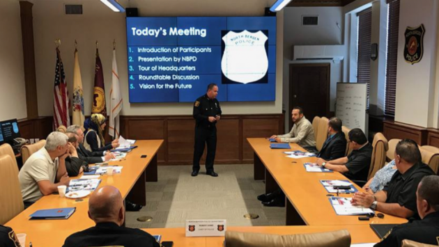 North Bergen Police Chief Robert Dowd hosted the department's first Interfaith Advisory Council meeting on Friday. Facebook photo.