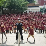 North Bergen police officer performs 'Wiggle Dance' with young students