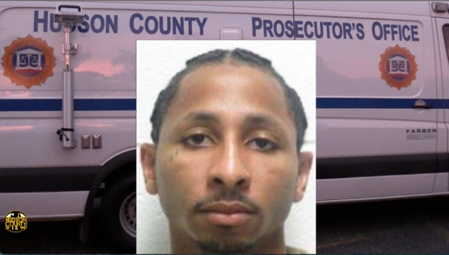 Marquis Gilchrist. Inset photo courtesy of the Hudson County Prosecutor's Office.