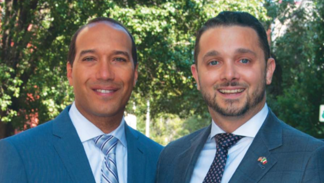 Hoboken 4th Ward Councilman Ruben Ramos (left) has formally endorsed 1st Ward Councilman Mike DeFusco for mayor. Photo courtesy of the DeFusco campaign.