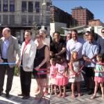 Hoboken officials all smiles during two ribbon cuttings for Southwest Park