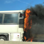 Bus fire on I-495 in North Bergen creating nightmare rush hour traffic