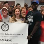 Hudson County Central Labor Council endorses Symes for Ward E council