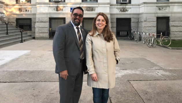 Jersey City Councilman-at-Large Daniel Rivera has endorsed Rebecca Symes for the Ward E council seat. Photo courtesy of the Symes campaign.