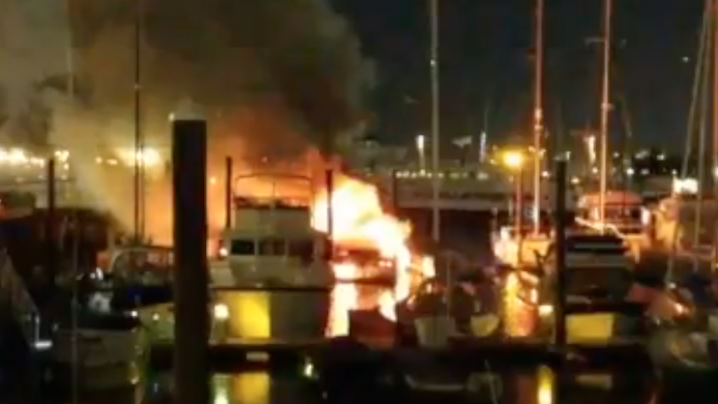 Jersey City, Bayonne, Hoboken, New York Fire Departments battle