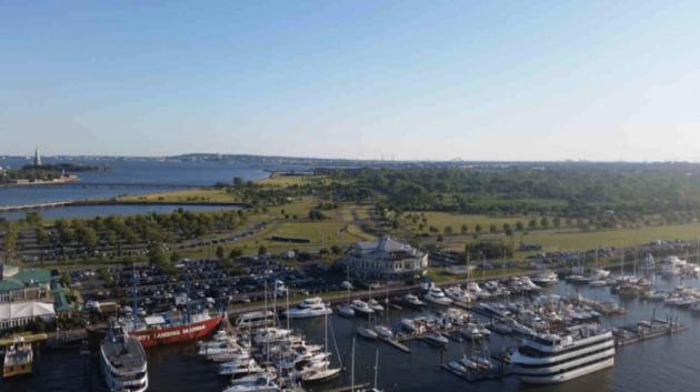 Suntex Marina owns Liberty Landing Marina, which is already a part of Liberty State Park. Photo via boatingindustry.com.