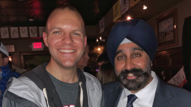 Hoboken spokesman Juan Melli (left) and Mayor Ravi Bhalla. Facebook photo.