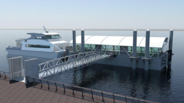 An artist's rendering of the Bayonne ferry terminal. Photo courtesy of Mayor Jimmy Davis' office.