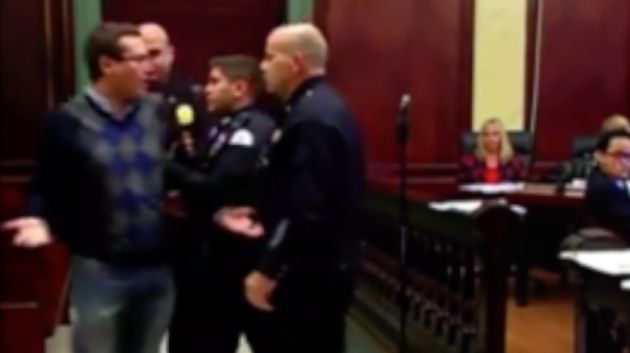 Screenshot from a video of the October 21, 2015 Hoboken City Council meeting edited by Hobokenhorse.com.