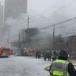 Firefighters battling four-alarm blaze at North Bergen Municipal Utilities Authority