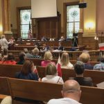 Polish activists take over Jersey City Council meeting to continue Katyn memorial protest
