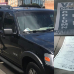 Police: Roque arrives in North Bergen after Newark SUV pulled over for hanging signs
