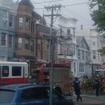 UPDATED: Fire on Bowers Street in the Jersey City Heights shuts down portion of Central Avenue
