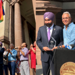 Hoboken officials raise rainbow flag at City Hall to kickoff inaugural pride week
