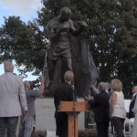 100 years in the making, Hudson officials unveil Braddock statue at North Hudson park