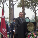Joined by Menendez, Hoboken officials gather at Pier A Park to pay tribute to 9/11 victims