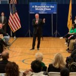 At Union City elementary school, Murphy presents middle class economy plan