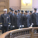 Jersey City Fire Department swears in 13 new members at City Hall ceremony