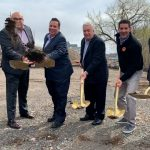 North Bergen officials break ground on new downtown park on Paterson Plank Road