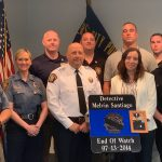 Jersey City, New Providence police present $5k check to slain Det. Melvin Santiago's mother