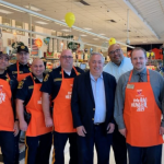 North Bergen elected officials, police officers team up with ShopRite to fight hunger