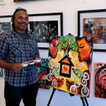 Jersey City Airbnb host, artist, paints new work as part of effort to support short-term rentals