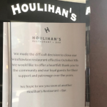 Without much explanation, Houlihan's in Weehawken suddenly closed