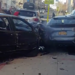 Multiple parked cars severely damaged by reckless driver in Jersey City