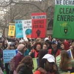 Green groups rally at NJ Transit HQ to protest projects including Kearny power plant