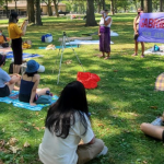 Filipino groups protest President Duterte during event at Lincoln Park in Jersey City