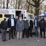 North Bergen officials rolls out new mobile COVID-19 testing unit in Braddock Park