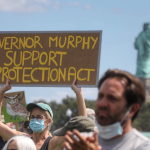 Rally at Liberty State Park calls for passage of LSP Protection Act as dissenters try to counter