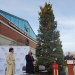 Efforts to combat COVID-19 highlighted at Bayonne Medical Center Christmas tree lighting