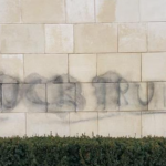 Trump Bay Street in Jersey City tagged with 'F*** Trump' graffiti following chaos at Capitol