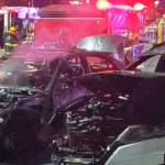 Mercedes-Benz catches fire in Secaucus Kohl's parking lot, damaging three other cars