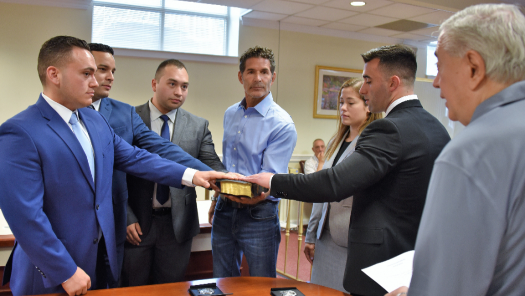 North Bergen Police Department swears in five new officers ...